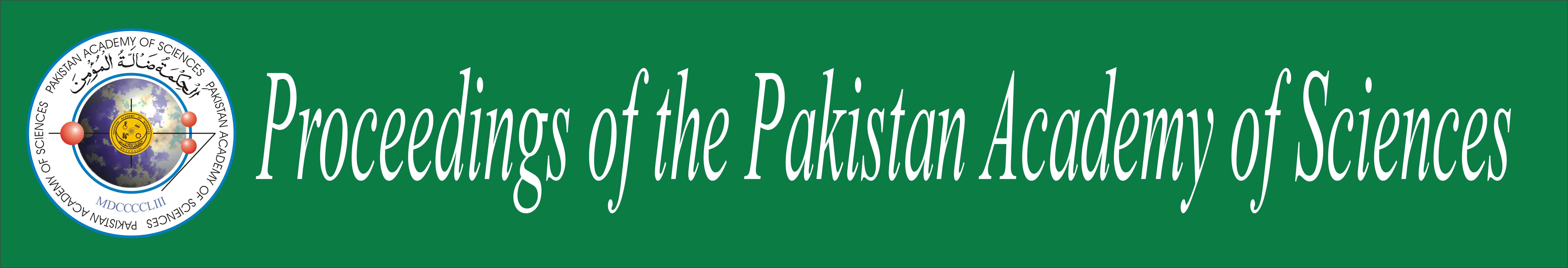 Proceedings of Pakistan Academy of Sciences